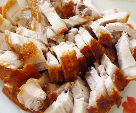 Cách làm món thịt rán giòn bì