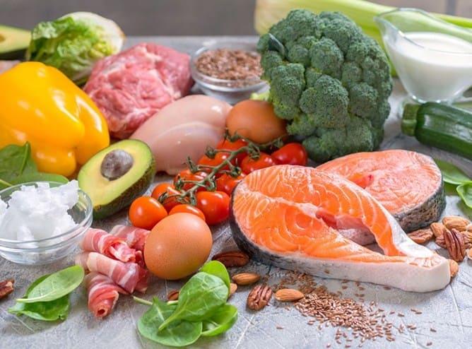 Các món ăn trong thực đơn low carb
