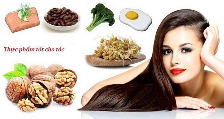 Mái tóc được cung cấp đầy đủ chất dinh dưỡng sẽ chắc khỏe