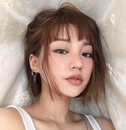 Kiểu tóc mái ngắn 5