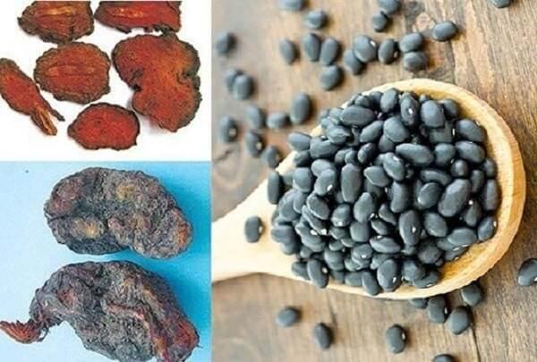 Hà thủ ô chữa tóc bạc kết hợp với đậu đen