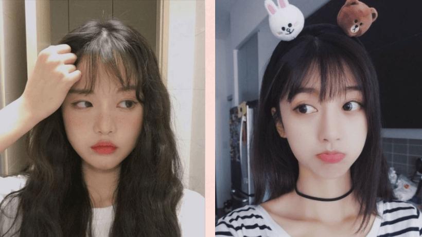 Tóc dài mái thưa phong cách Hàn Quốc