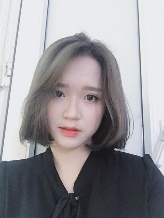 Kiểu tóc nhuộm màu nâu rêu 5