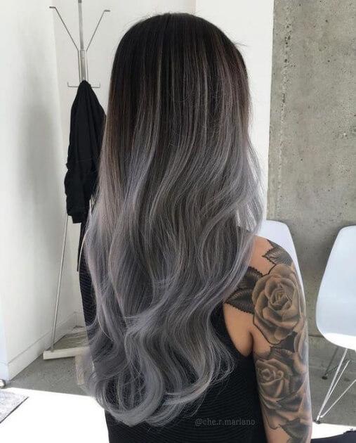 Tóc màu xám tro dịu dàng