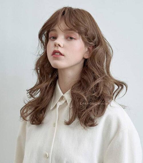 Kiểu tóc màu nâu sáng 5