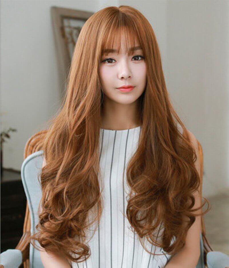 Kiểu tóc màu nâu vàng 2