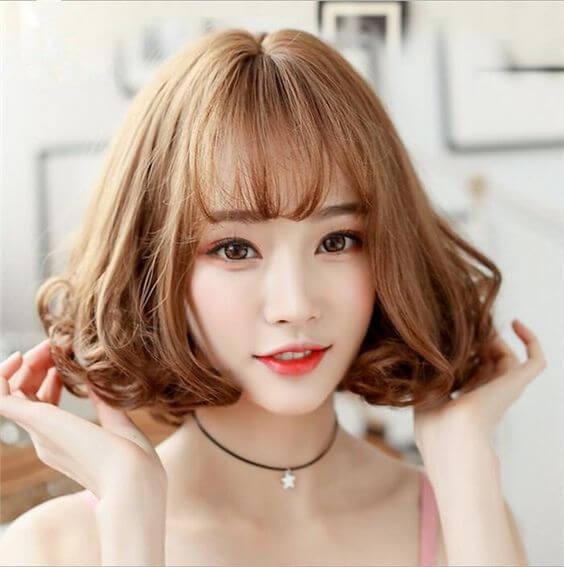 Kiểu tóc xoăn đẹp ngang vai 2