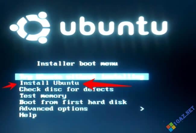 Chọn Install Ubuntu