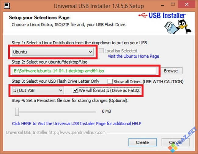 Tạo USB cài Ubuntu