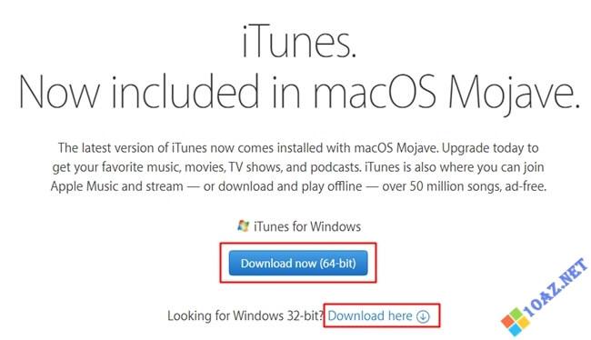 Chọn phiên bản iTunes phù hợp